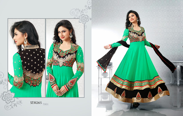 Latest Style of Long Floor Length Frocks Anarkali Suit