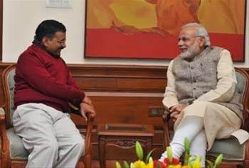 Arvind Kejriwal meets Narendra Modi