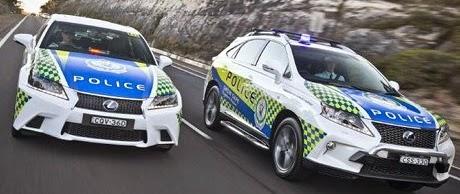 Lexus Hybrid Jadi Mobil Dinas Polisi Australia