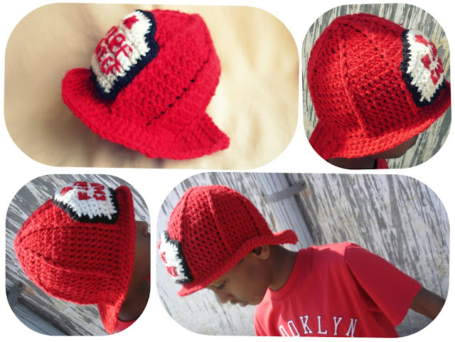 Crochet Pattern For Baby Fireman Hat : The Lazy Hobbyhopper: Crochet Fireman Hat