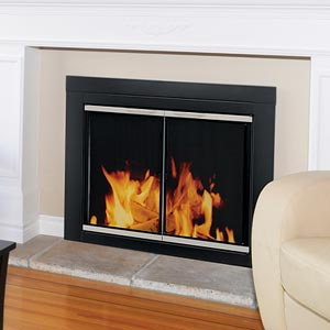 Fireplace Decorating A Not So Open Fire The Benefits Of Glass Fireplace Doors