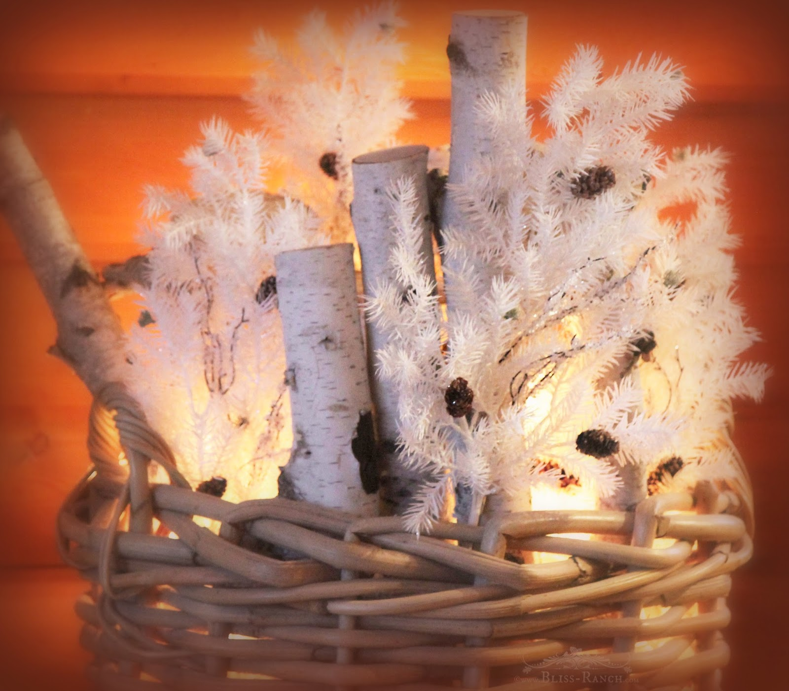Bliss-Ranch.com lighted birch basket