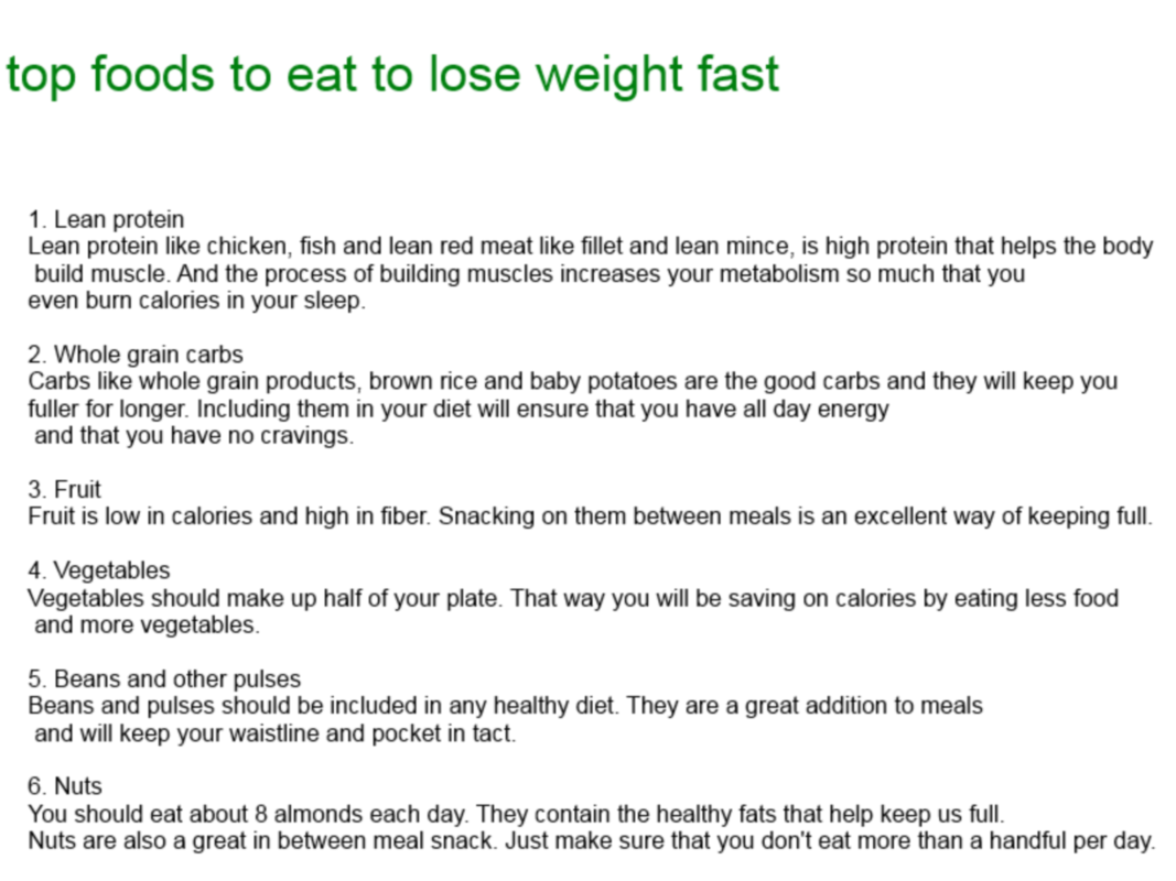 What To Eat To Lose Weight Quick