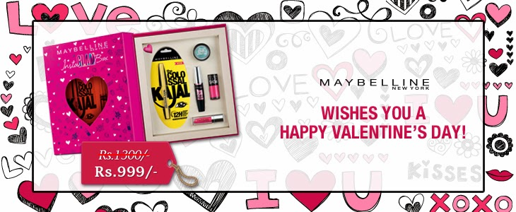 Maybelline Instaglam Valentine Edition Box, indian makeup blog