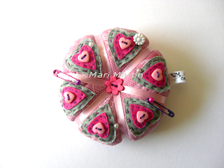 Pincushion Heart with Felt