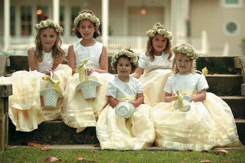 Dress to surprise let your flower girl bloom with colors however recently we have seen a new trend in fashion happy to say the old plain white dress is out and sparkle sequin and bright colors are in mightylinksfo
