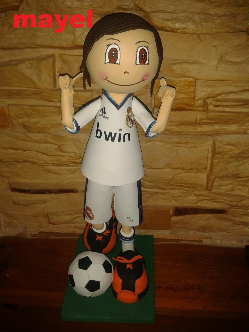 Futbolista En Goma Eva Real Madrid