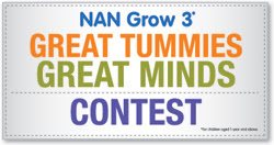 Nestle NAN Grow 3 'Great Tummies Great Minds' Contest
