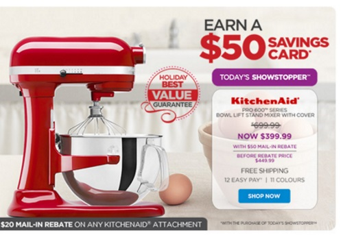 Canadian Daily Deals The Shopping Channel Kitchenaid 300