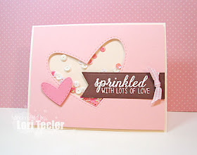 Sprinkled with Love card-designed by Lori Tecler/Inking Aloud-stamps from Reverse Confetti
