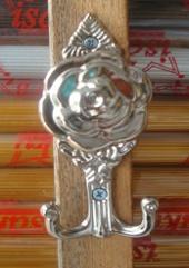 Hook Gorden Mawar Silver