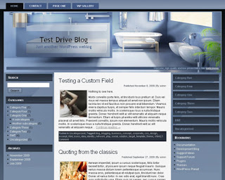 Blue Bathroom Joomla Template