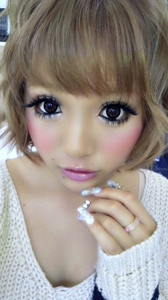 CookieCat`s World: Gyaru Eye Make up Inspiration - Cute Easy Makeup Ideas