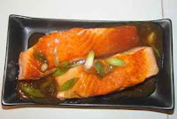 Salmon in Chinese sauce