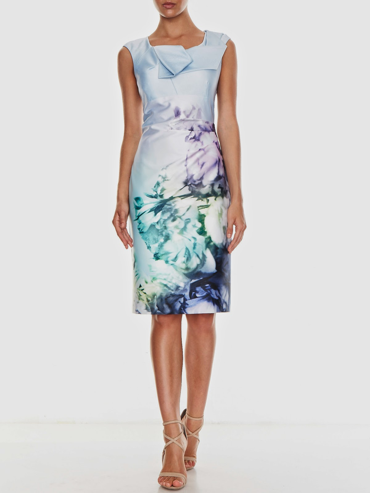 Avril Printed Sateen Shift