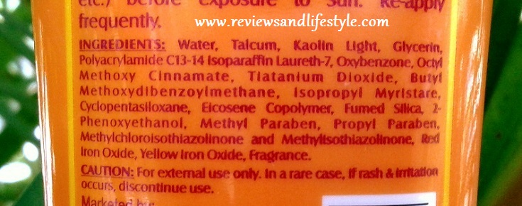 Lotus Herbals Safe Sun 3-in-1 Matt Look Daily Sunblock Ingredients Review