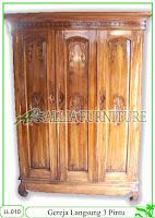 Lemari Pakaian Klender Gereja 3 Pintu