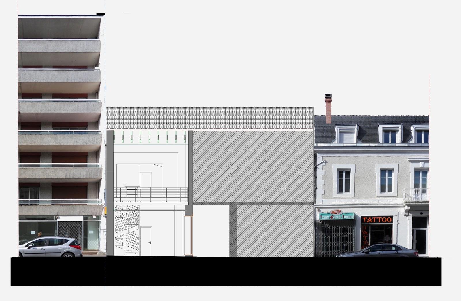 architecte p rigueux julien flahaut surface commerciale p rigueux. Black Bedroom Furniture Sets. Home Design Ideas