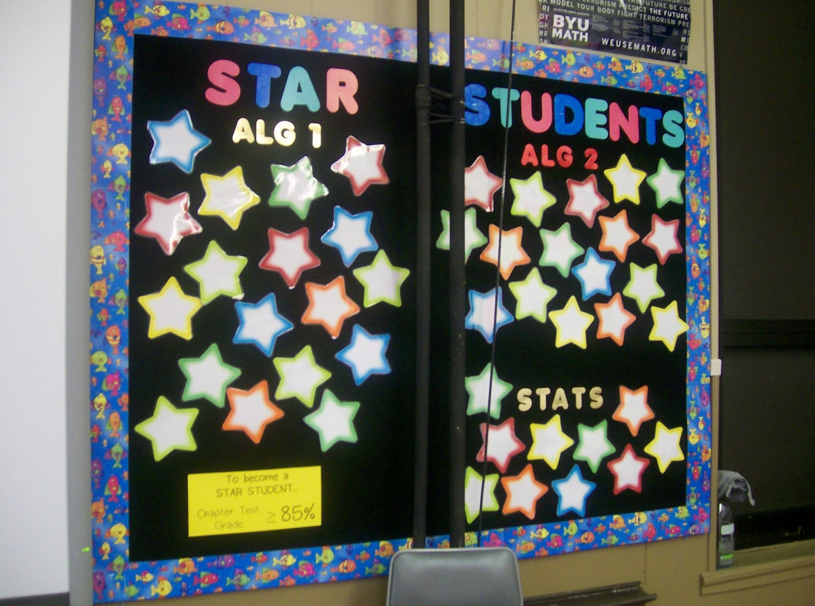 Middle School Classroom Decor Game ~ Ideas for middle school math classroom decorating