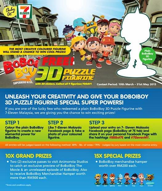 BoboiBoy Free 3D Puzzle Figurine 7 Eleven