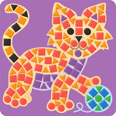 mosaic cat, mosaic crafts, craft kit