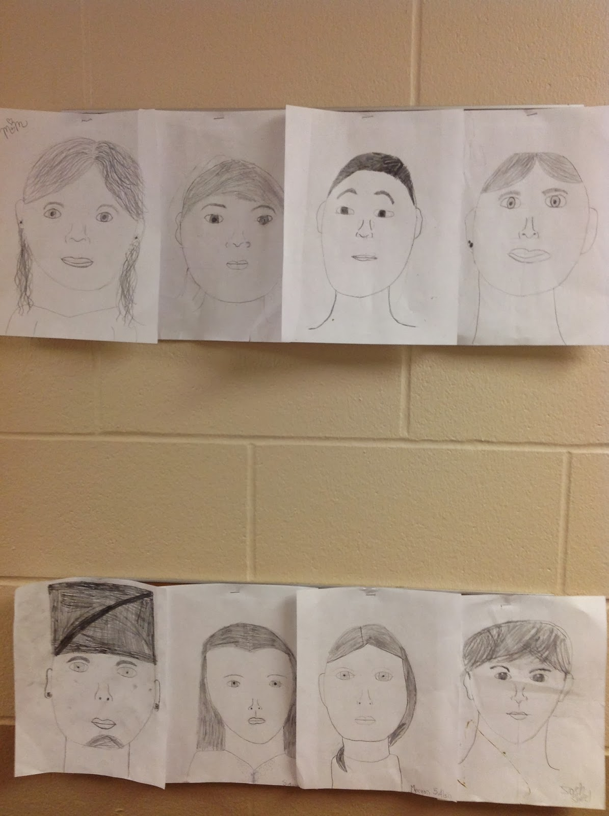 5th Grade Portrait Drawing with Proportion