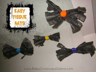 Easy Tissue #Bats #Halloween #Craft