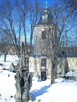 Velikonoce na Krásné 24. 3. 2013 - morový sloup a kostel sv. Jakuba