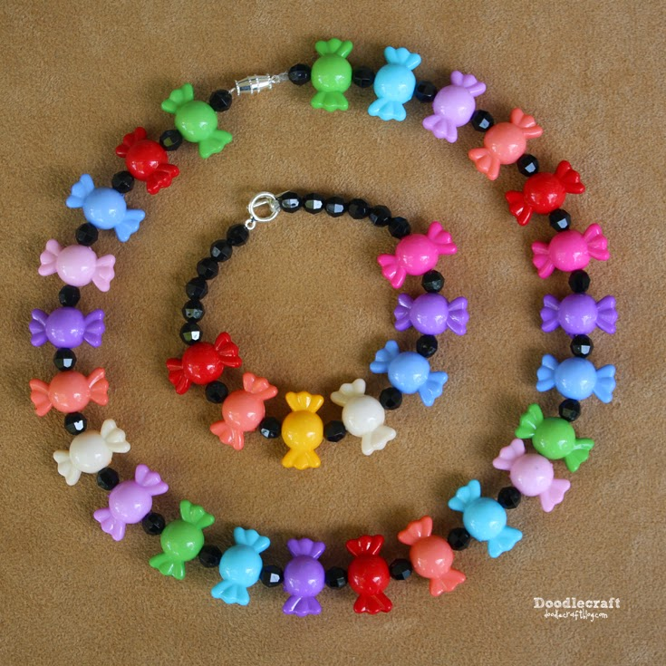 candy bead necklace for kids