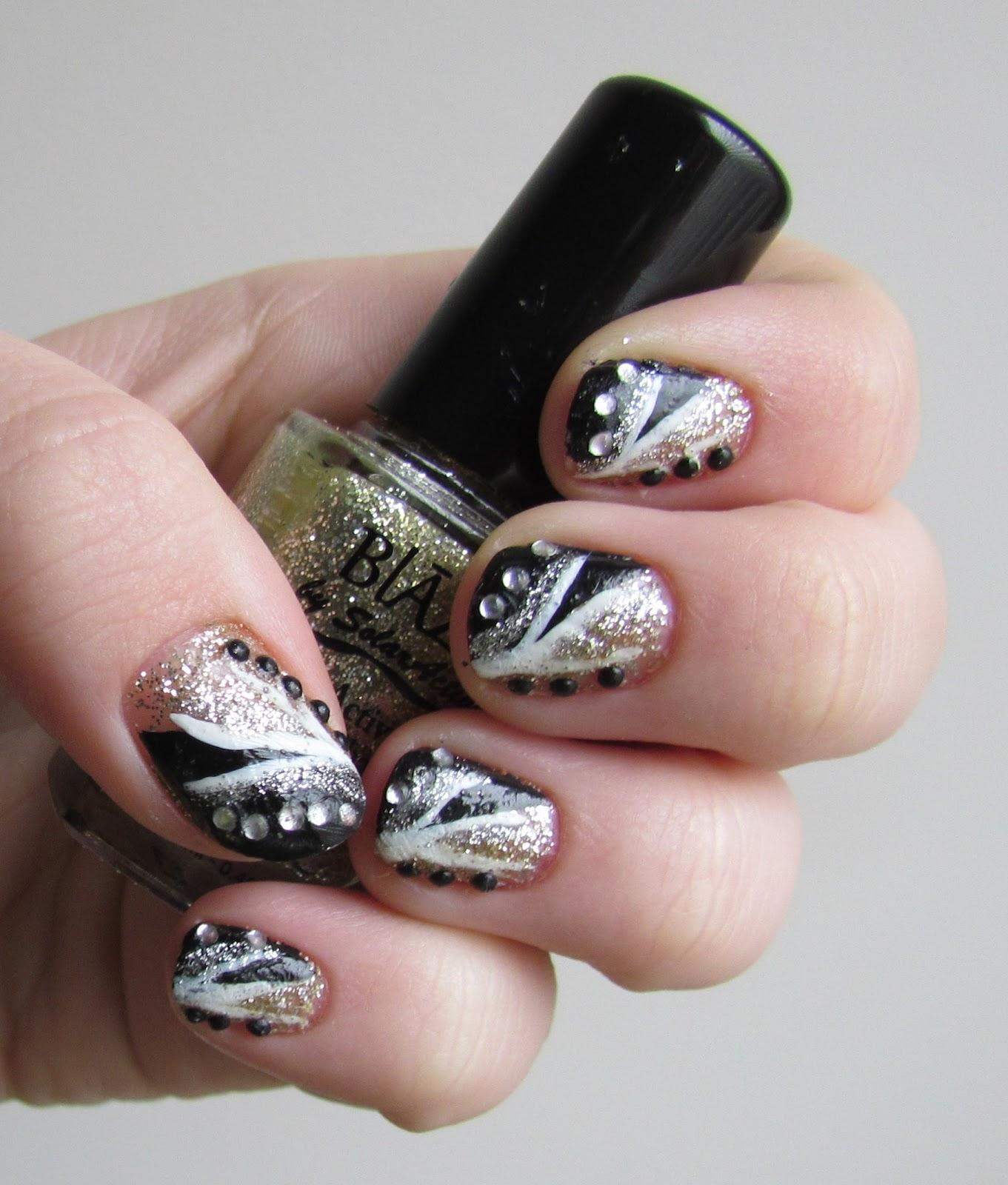 Karen Loves Nail Polish: NOTD: New Year\'s Eve Black and White