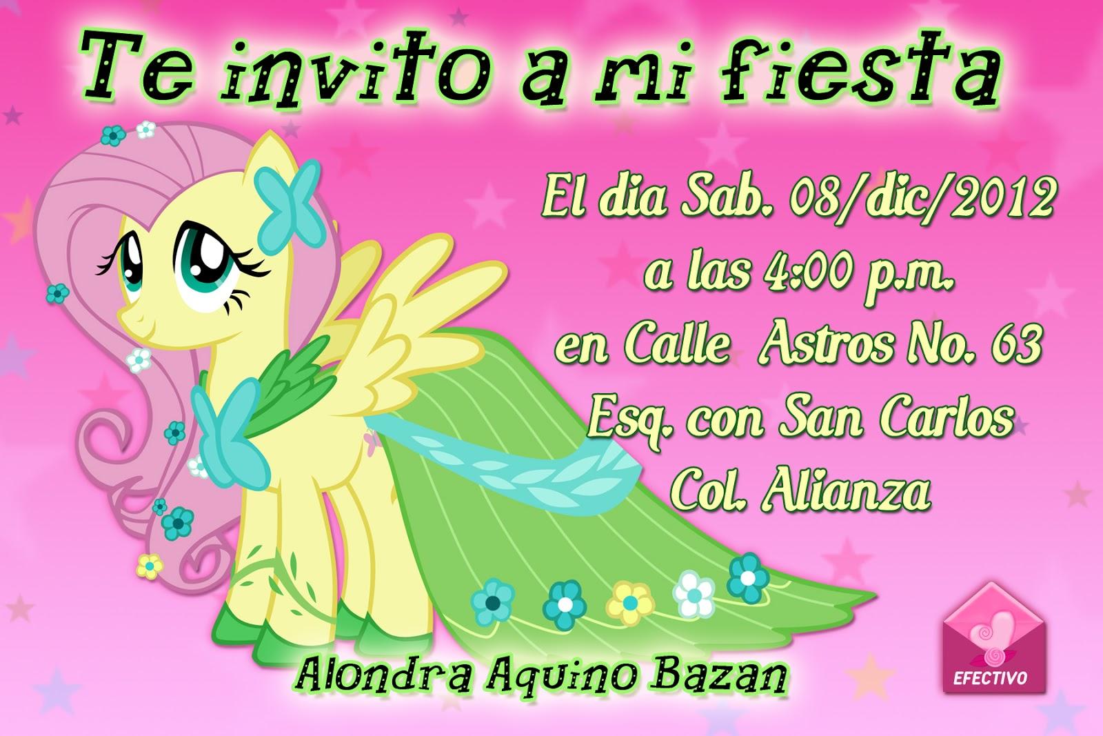 """MARCOS GRATIS PARA FOTOS: INVITACION DE PONY 6"""" X 4"""", INVITACIONES ..."""