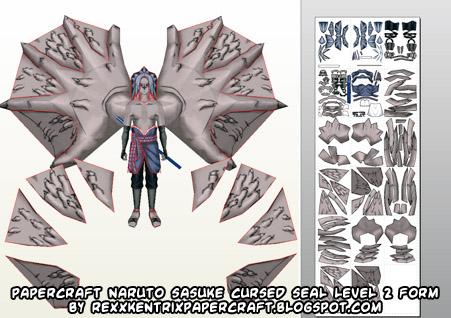 Ninjatoes' papercraft weblog: Naruto papercraft Cursed Seal second