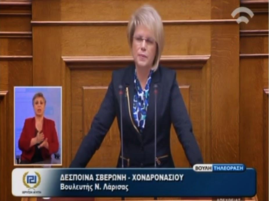 Δ. Σβερώνη: Οι Βουλευτές της Χρυσής Αυγής έχουν το τεκμήριο της αθωότητας - ΒΙΝΤΕΟ
