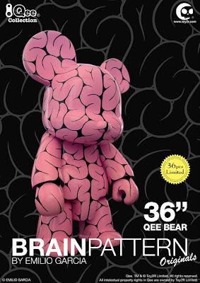 """Toy2R - Emilio Garcia 36"""" Brain Pattern Qee"""