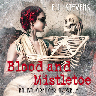 Audiobook Release Blood and Mistletoe by E.J. Stevens urban fantasy Ivy Granger series