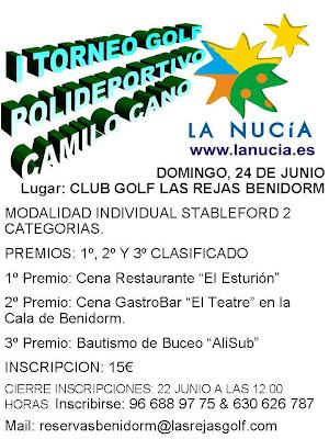 Las Rejas Golf Benidorm- Torneo La nuncia.es