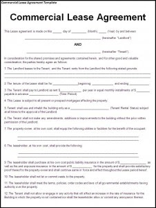 Commercial Lease Agreement Template 226x300 Blank Lease Agreement Forms