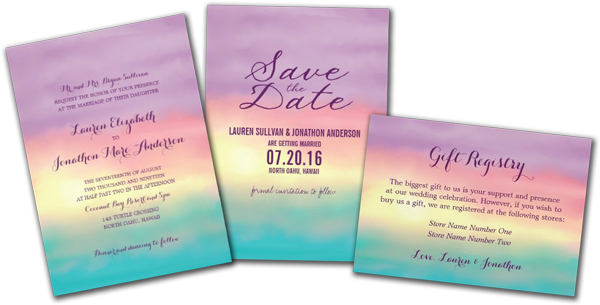 Sunset Romance Wedding Invitations