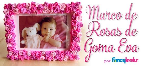 Marco de rosas hechas con goma eva, idea especial regalo Día de la Madre