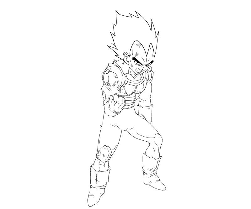 Vegeta 5 coloring crafty teenager for Vegeta coloring pages