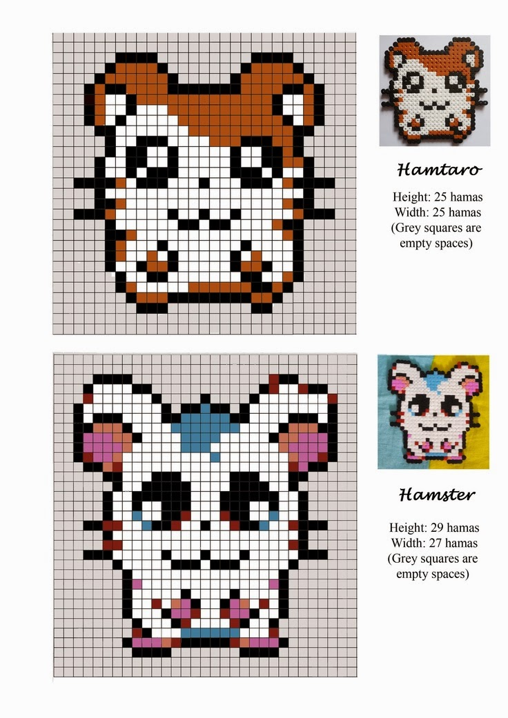 Hamtaro Hama Beads Pattern post by wememade