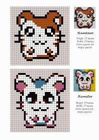 Hamtaro Hama Beads Pattern post by wememade