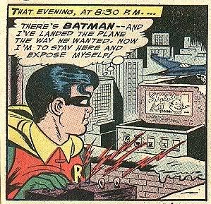 Robin funny comic book panel