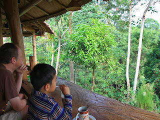 breakfast with jungle view
