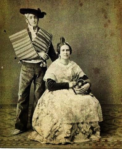 Tipos valencianos Valencian tipique costumes(1878)