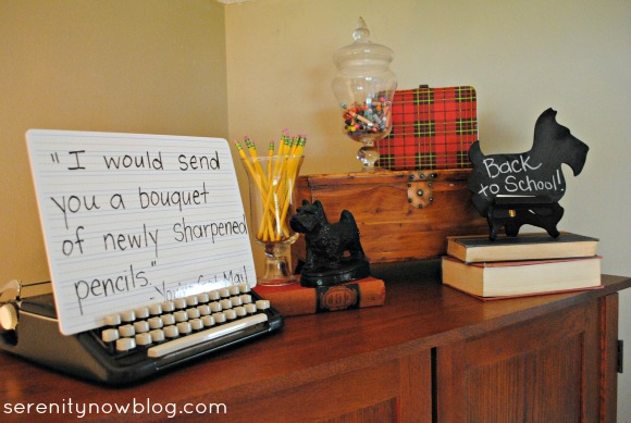 Back to School Fall Vignette, Serenity Now blog