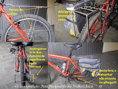 Um dos bagageiros mais baratos encontrados em bicicletarias