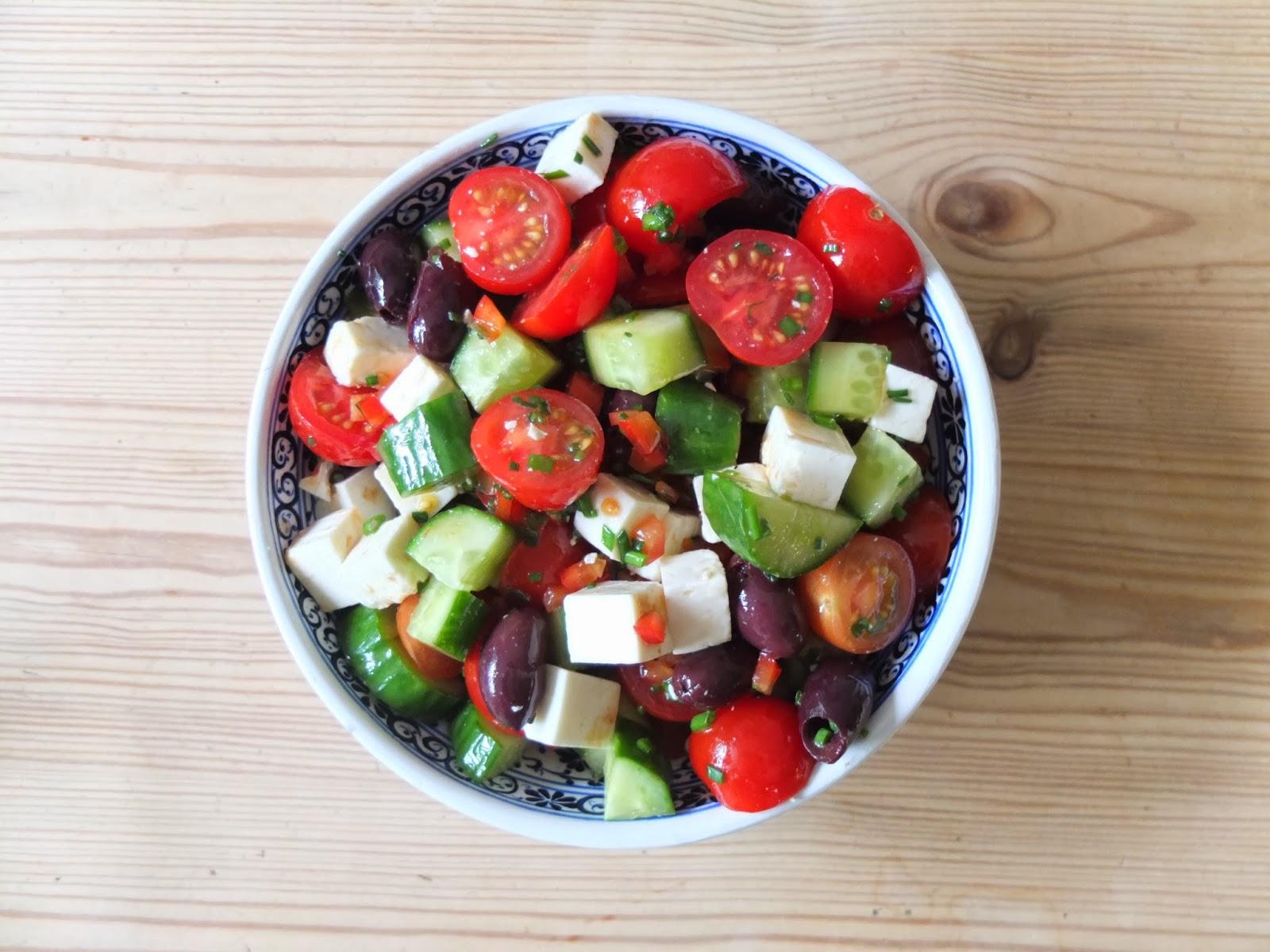 Salada Grega Moda Da Casa