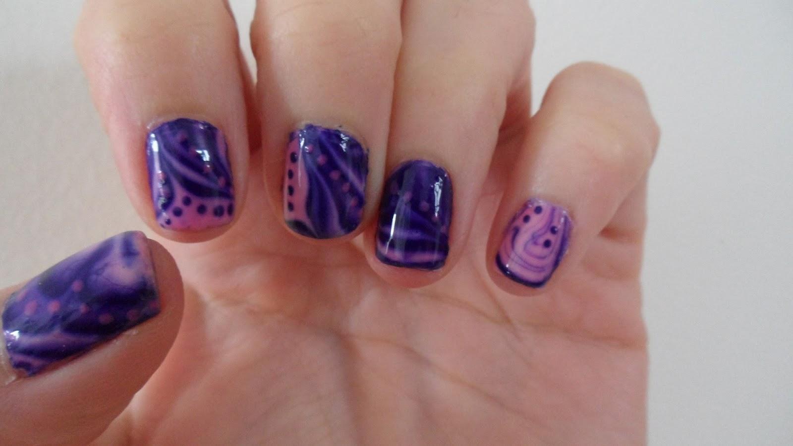 Nailificent: Water Marbling nail art