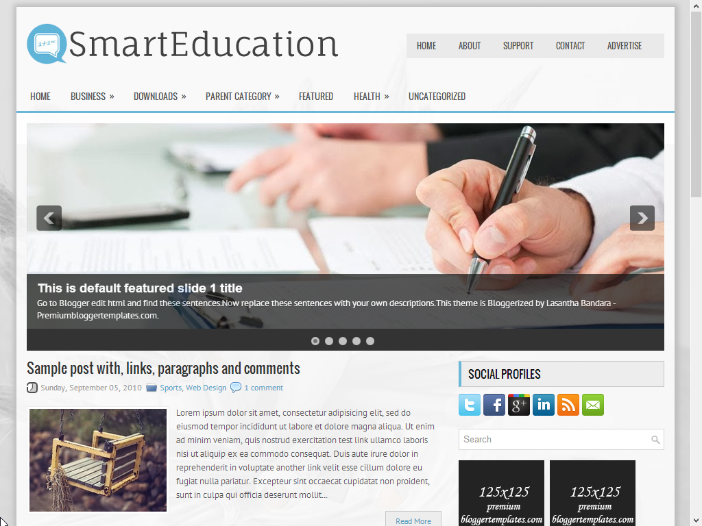 SmartEducation Responsive Blogger Template